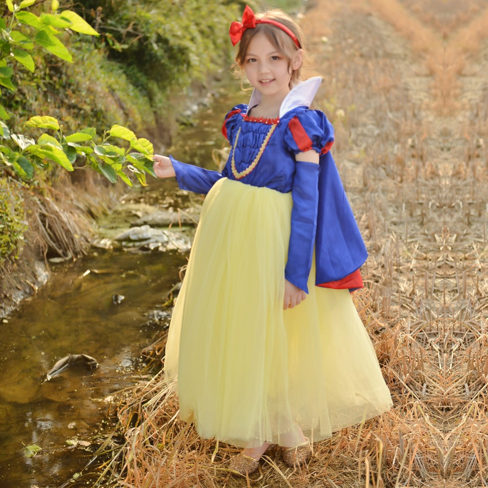 Children Cosplay Dress Snow White Girl Princess Dress Halloween Party Costume Children Clothing Sets Kids Clothes Girls Dresses hot new year children girls fancy cosplay dress snow white princess dress for halloween christmas costume clothes party dresses