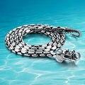 925 Тайский серебряное ожерелье толстая 5 мм марка длинные серебряные цепочки. бесплатная доставка панк Мужчины дракон ожерелье