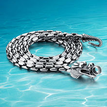 925 Thai plata collar grueso 5mm marca de cadena larga de plata. envío gratis punk Hombres collar del dragón