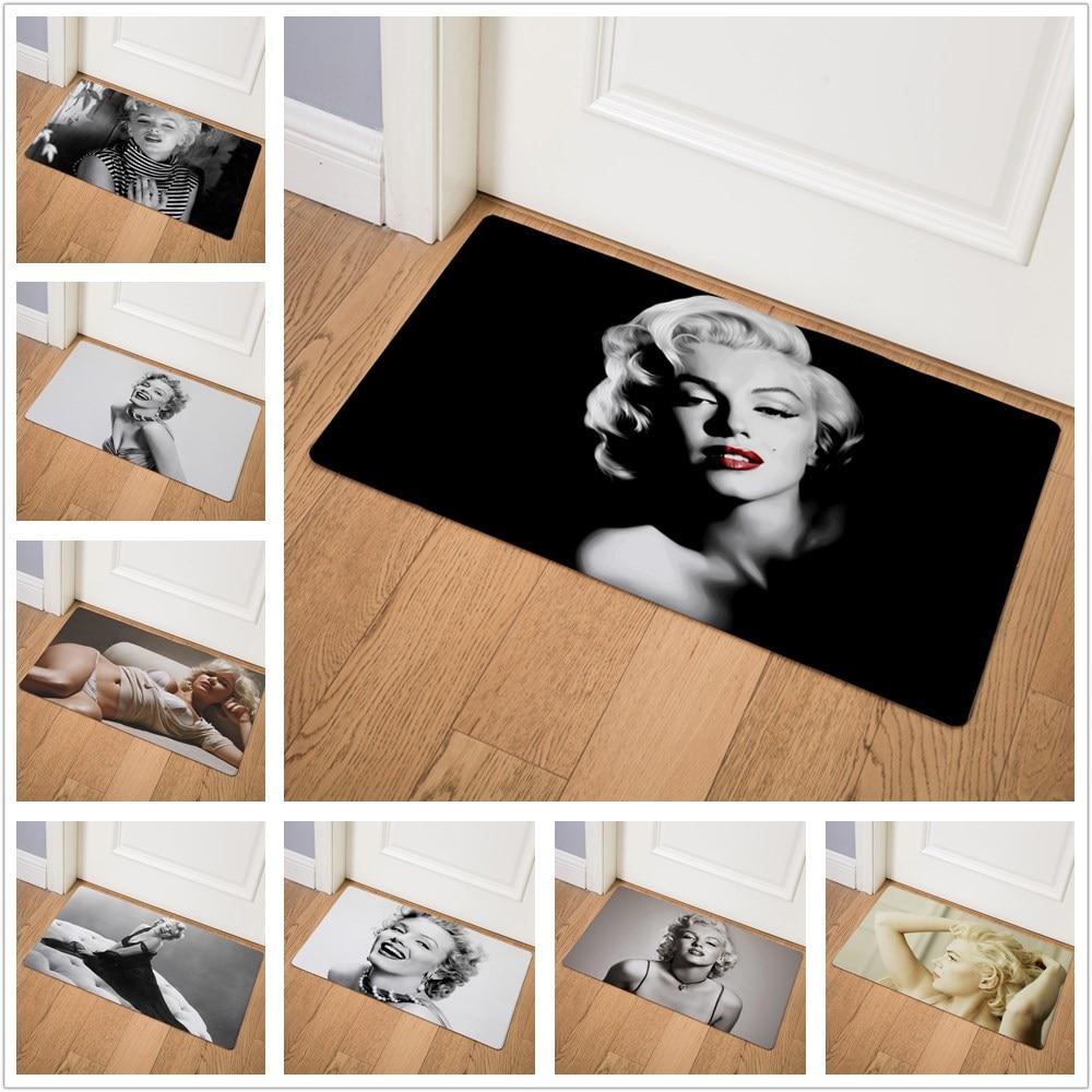 Character Marilyn Monroe Welcome Modern Home Decor Kitchen Rug Living Room Hallway Bathroom Entrance Door Mat Non Slip Floor Mat Buy At The Price Of 14 07 In Aliexpress Com Imall Com