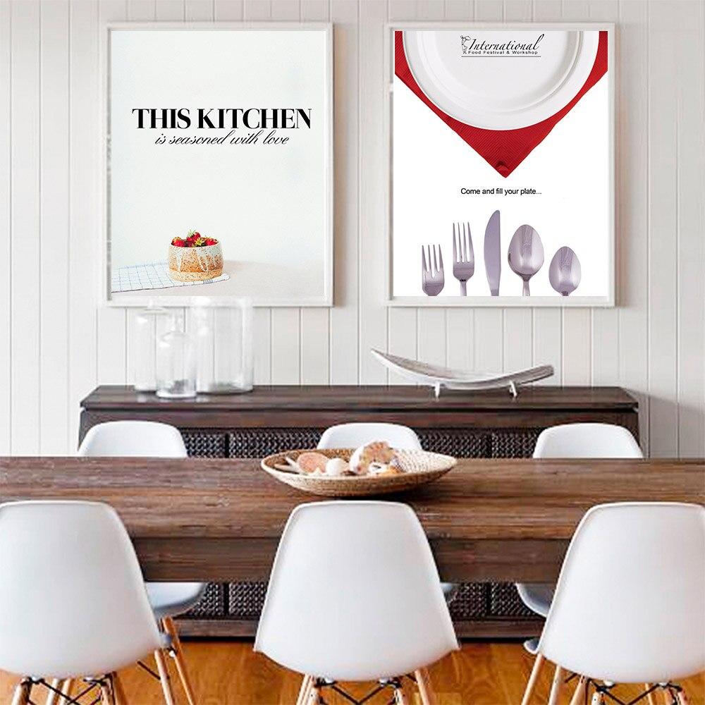 WANGART Da Cucina Pittura Foto Poster e Stampe Moderne Food Cafe ...
