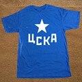 Streetwear Printed Moscow CSKA Russian Hip Hop Funny T Shirt Tshirt Men Cotton Short Sleeve T-shirt Top Tees