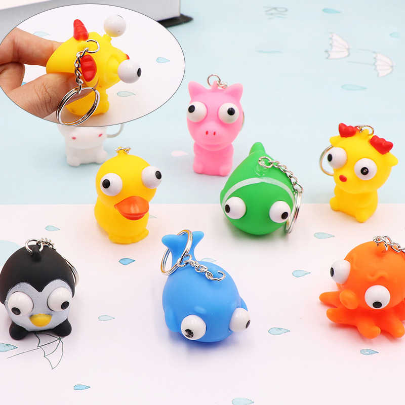Plush Animal Toy Keychain Cute Duck Frog Fashion Keychain Mini Key Jewelry Cute Animal Children's Toy Gift 2019 NEW
