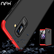 Роскошный 360 Защитный пластиковый жесткий чехол для samsung Galaxy J8 SM-J810 противоударный корпус для телефона для samsung на J 8 тонкий Чехол