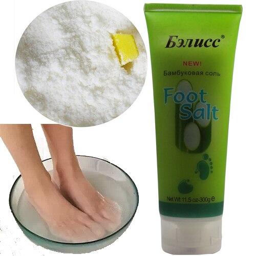 Bambusa sāls kāju vannas ādas kopšana Antibakteriāla Detox kāju vannas ādas pēdu masāža Sāls 300g Bezmaksas piegāde