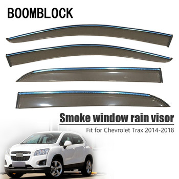 High Quality 4pcs Smoke Window Rain Visor For Chevrolet Trax 2018 2017 2016 2015 2014 ABS Vent Sun Deflectors Guard Accessories