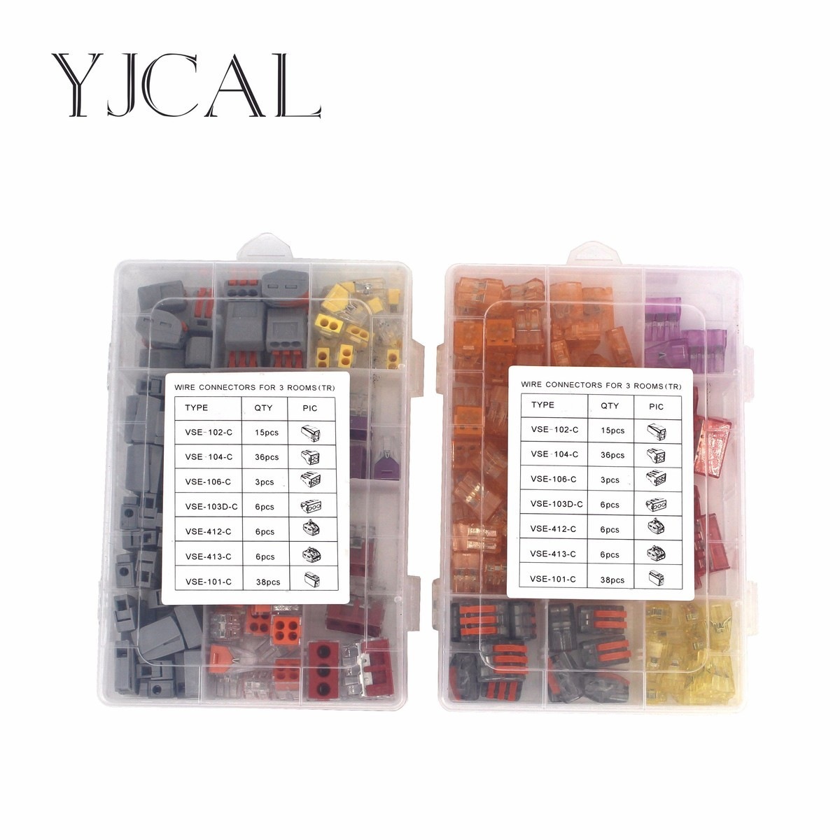 Wago Type Wire Connector 110PCS/Box Universal Compact Terminal Block Lighting Wire Connector For 3 Room Mixed Quick Connector eglo connector box 91207