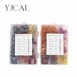 Wago Type Wire Connector 110PCS/Box Universal Compact Terminal Block Lighting Wire Connector For 3 Room Mixed Quick Connector