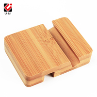 Mini Portable Bamboo Universal Cell Phone Holder Small Portable Movie Tablet Real Wood Stand For LG