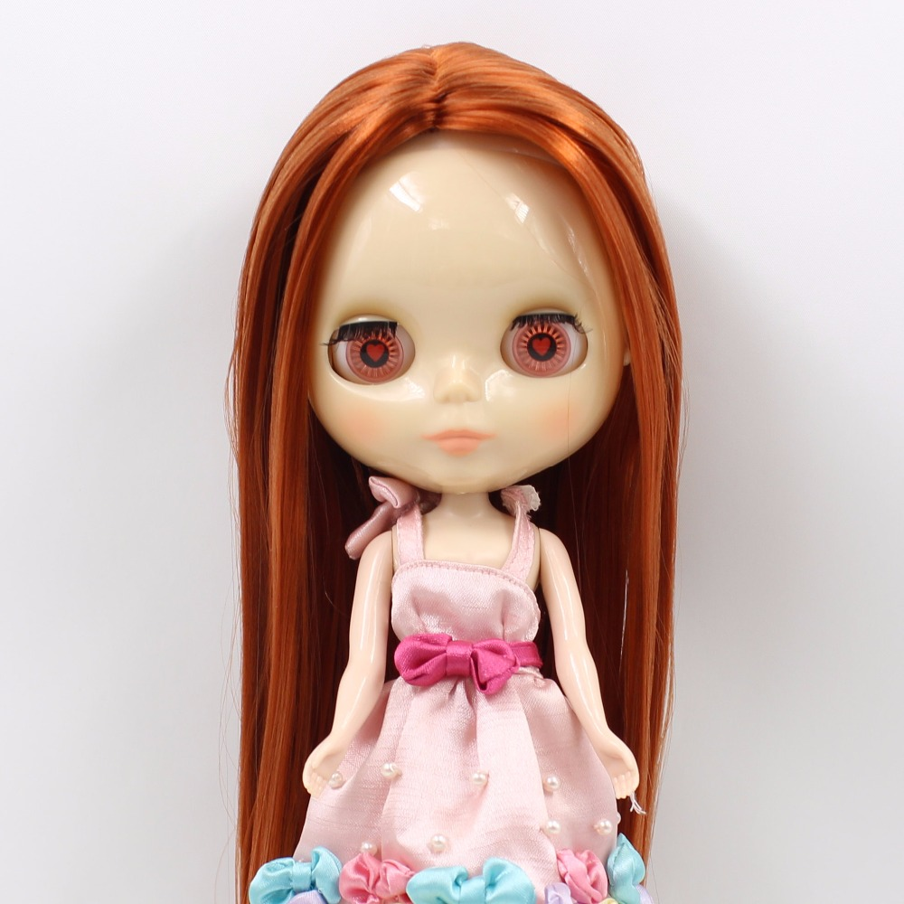 ICY factory Blyth Doll BL232 Red Brown hair transparent face normal body 1 6 toy gift