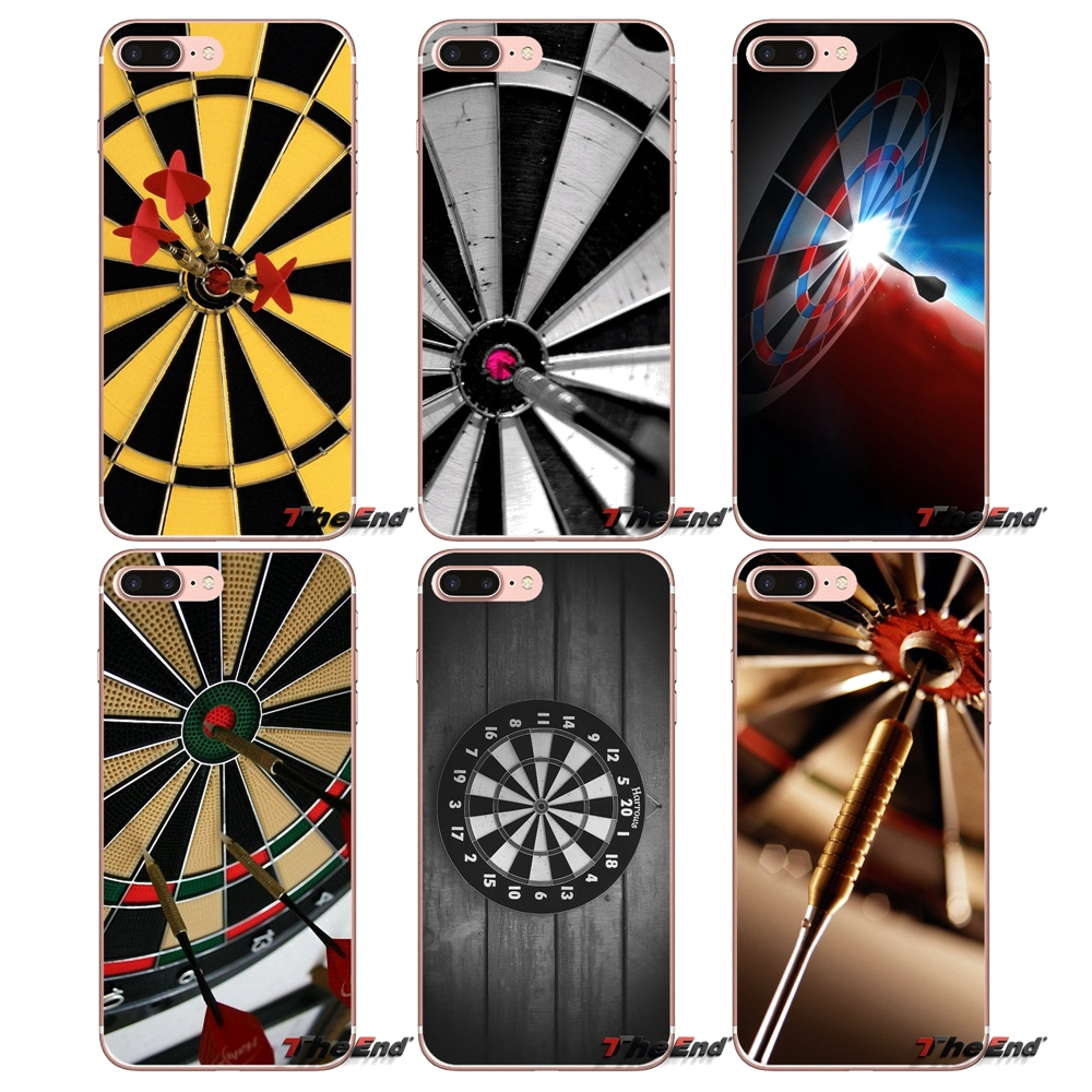 Us 0 99 Dart Game Art Wallpaper Soft Silicone Case For Samsung Galaxy S3 S4 S5 Mini S6 S7 Edge S8 Plus Note 2 3 4 5 Grand Core Prime In Half Wrapped