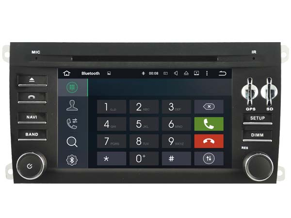 Android 7.1.1 2GB 1024*600 HD car DVD player for Porsche Cayenne gps navi audio radio stereo multimedia tape recorder headunits