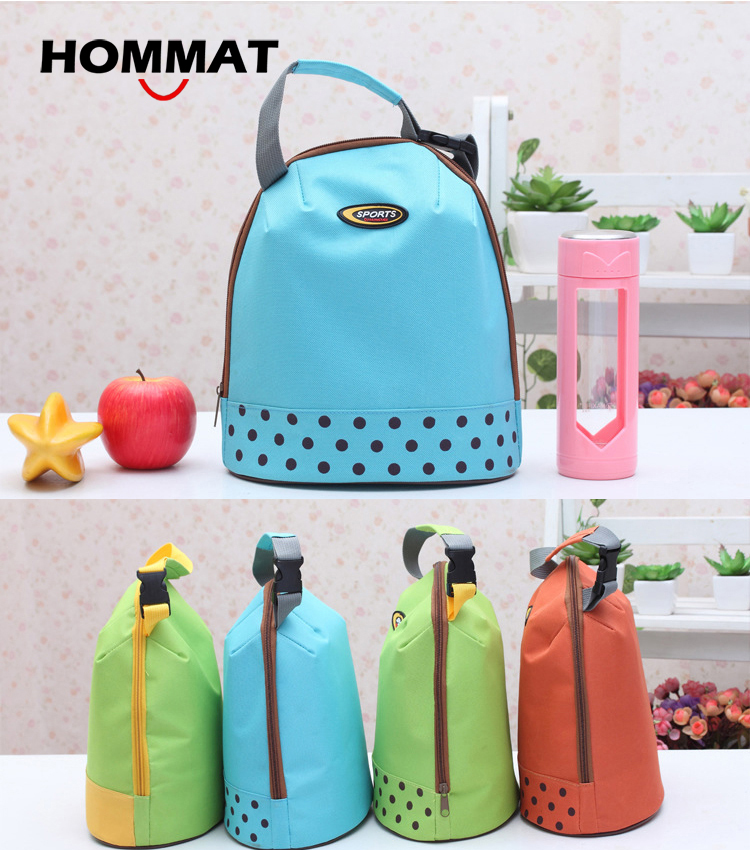 Thermal Insulated Cooler Lunch Bag for Kids Girls School Lunch Boxs Carry Lunch Tote Bag Water Bottle Bag Cotton Bolsa Termica(China (Mainland))