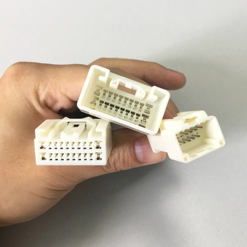 Car Radio Wire Wiring Harness Adapter Connector Adaptor Plug add 12pin CD  Changer for Toyota Crown Land Cruiser Prado