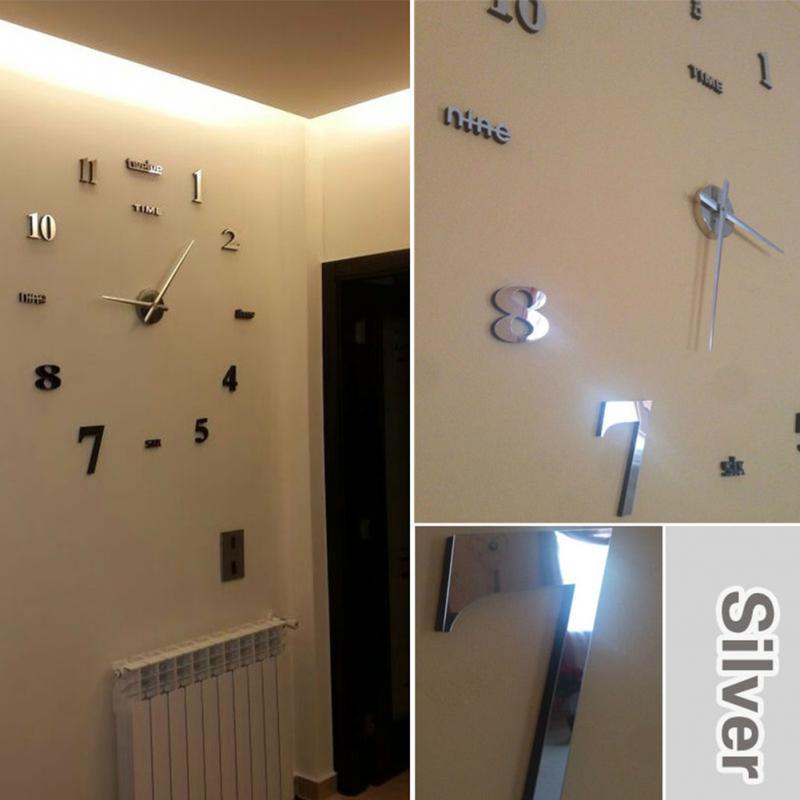 2017 Nouveau Design Décoration De La Maison Grand Miroir Horloge