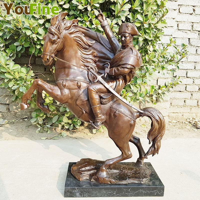 Statue en Bronze pur napoléon Bonaparte balade cheval Art classique Sculpture