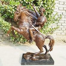 pure Bronze statue Napoleon Bonaparte Ride Horse Art Classic Sculpture