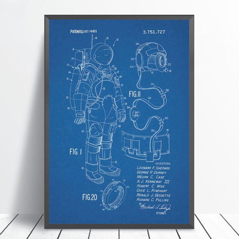 Space Suit Prints Home Decor