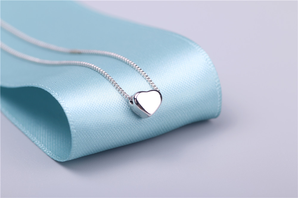 AAA 100% Silver 925 Necklace Shiny Heart Necklace Sterling Silver Necklaces & Pendants FREE SHIPPING Multan