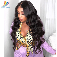 Sevengirls Brazilian Wig 4*4 Natural Wave Lace Closure Wig Lace Front Human Hair Wigs Pre Plucked With Baby Hair Free Shipping