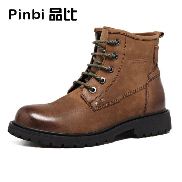 Skateboard in pelle di alta uomini scarpe casual Inglese Chelsea boots  stivali invernali da uomo traspirante b7a4a54d375