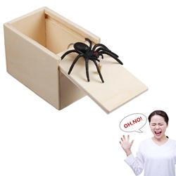 Забавный пугающий ящик деревянный шалость паук скрытый в случае отличного качества шалость-деревянный скомбокс интересный игровой Шутка
