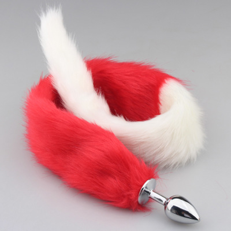 Buy Metal Fox Tail Anal Plug Smooth Fur Flirt Anus Plug Erotic Toys Butt Insert Stopper Woman Adult Game Products Couples