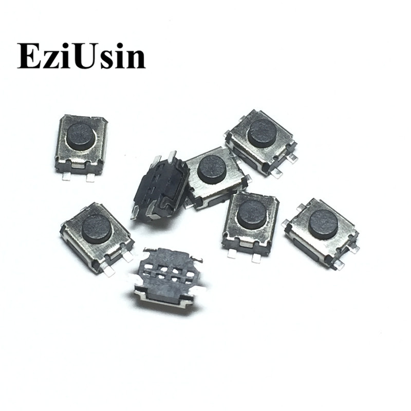 EziUsin 100pcs 3*4*2 Micro Button Tact switch 4 Pins SMD Little Turtle Double Spring 3x4x2MM Interrupteur Tablette 3*3.5*2