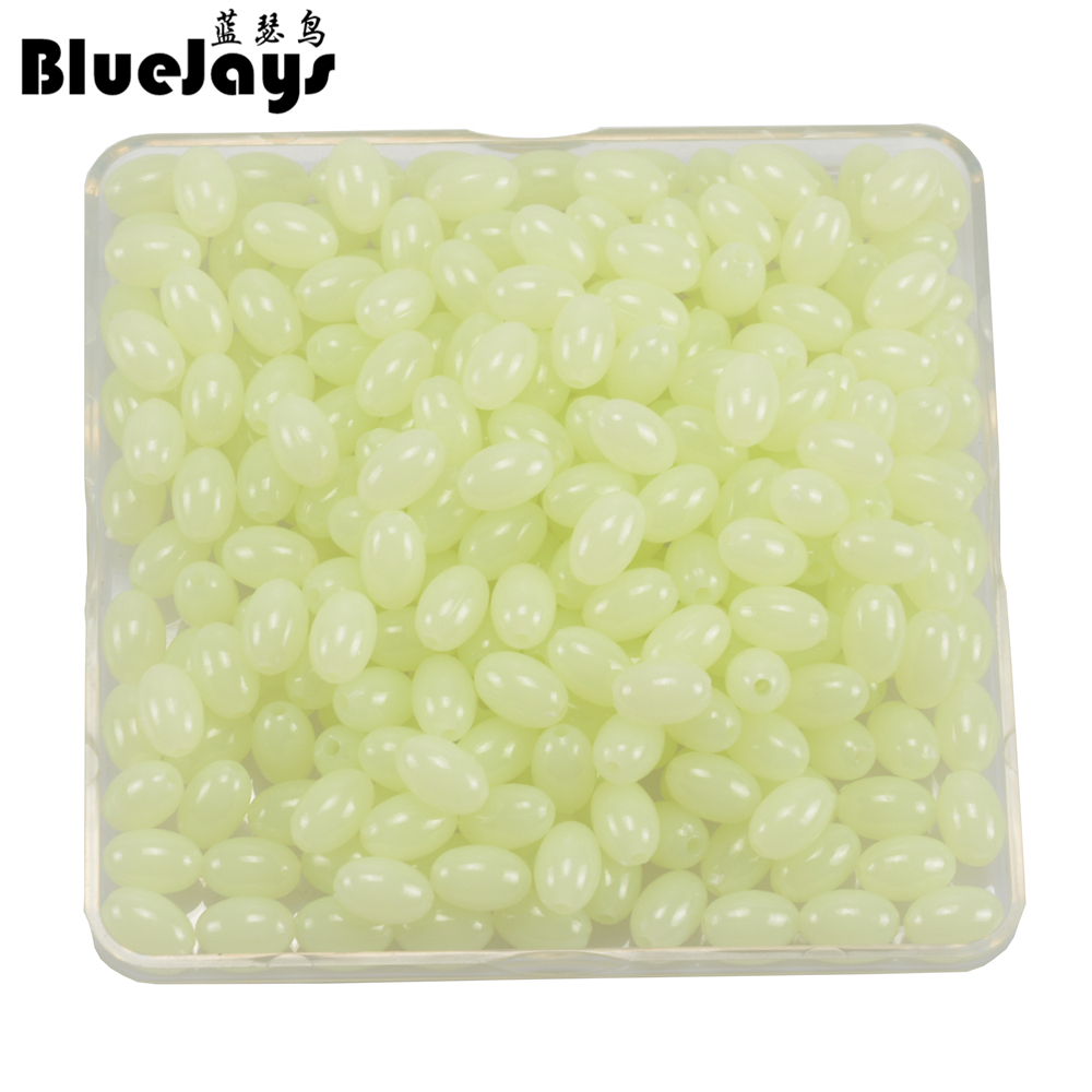 BlueJays 200pcs/lot Oval Hard Luminous Beads Pearl Fishing Lure Bait Accessoires Fishing Tackle Sea fishing tool free shipping столярная струбцина topex 12a130