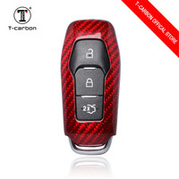 Carbon Fiber Car Key Smart Remote Key Case Cover for Ford Mondeo For Ford Explorer Mustang 3 Buttons