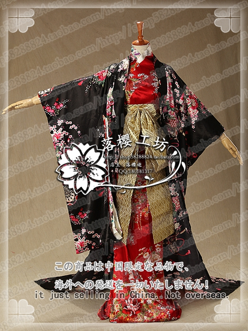 Chinese Court Dress Japan Luxury Kimono Halloween Christmas Cosplay Costume Uniform Outfit Free Size