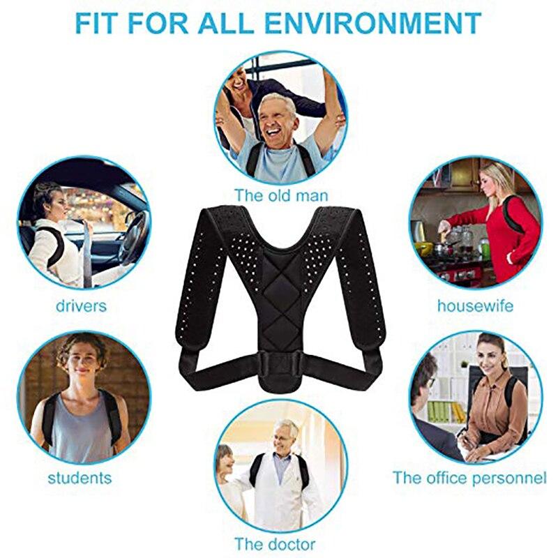 HTB1tVNCMQvoK1RjSZFwq6AiCFXao - Adjustable Medical Men/women Back Posture Corrector Clavicle Spine Back Shoulder