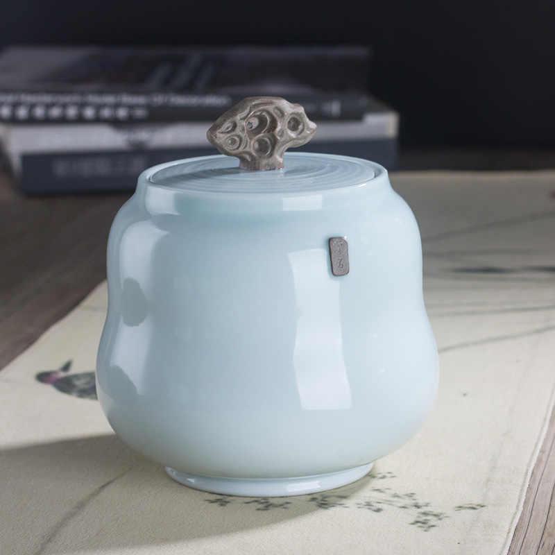 Китайская керамическая банка конфеты кофейник емкость для чая банки кухонные принадлежности монета благовония порошок герметичный хранения бутылочка для заправки горшок