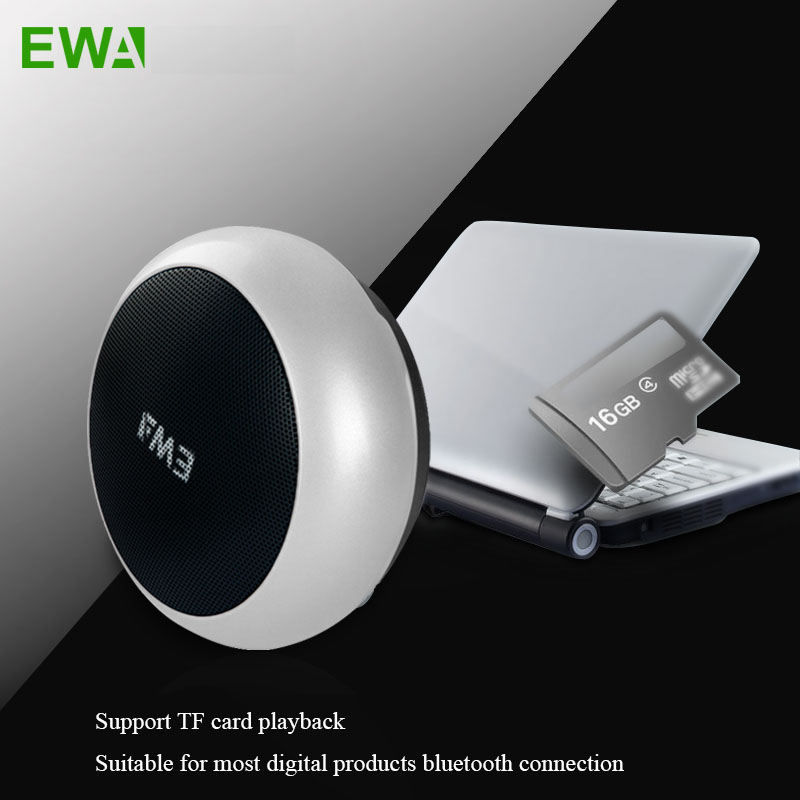 EWA A110 Outdoor Stereo Portable Speaker Bluetooth Wireless Speaker Hands Free Calls Heavy Bass Support TF Card USB Mini Speaker image