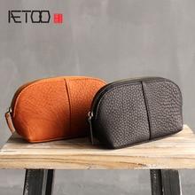 Genuine leather handbag handbag package bag Korea portable simple leather shells large capacity mobile phone bag