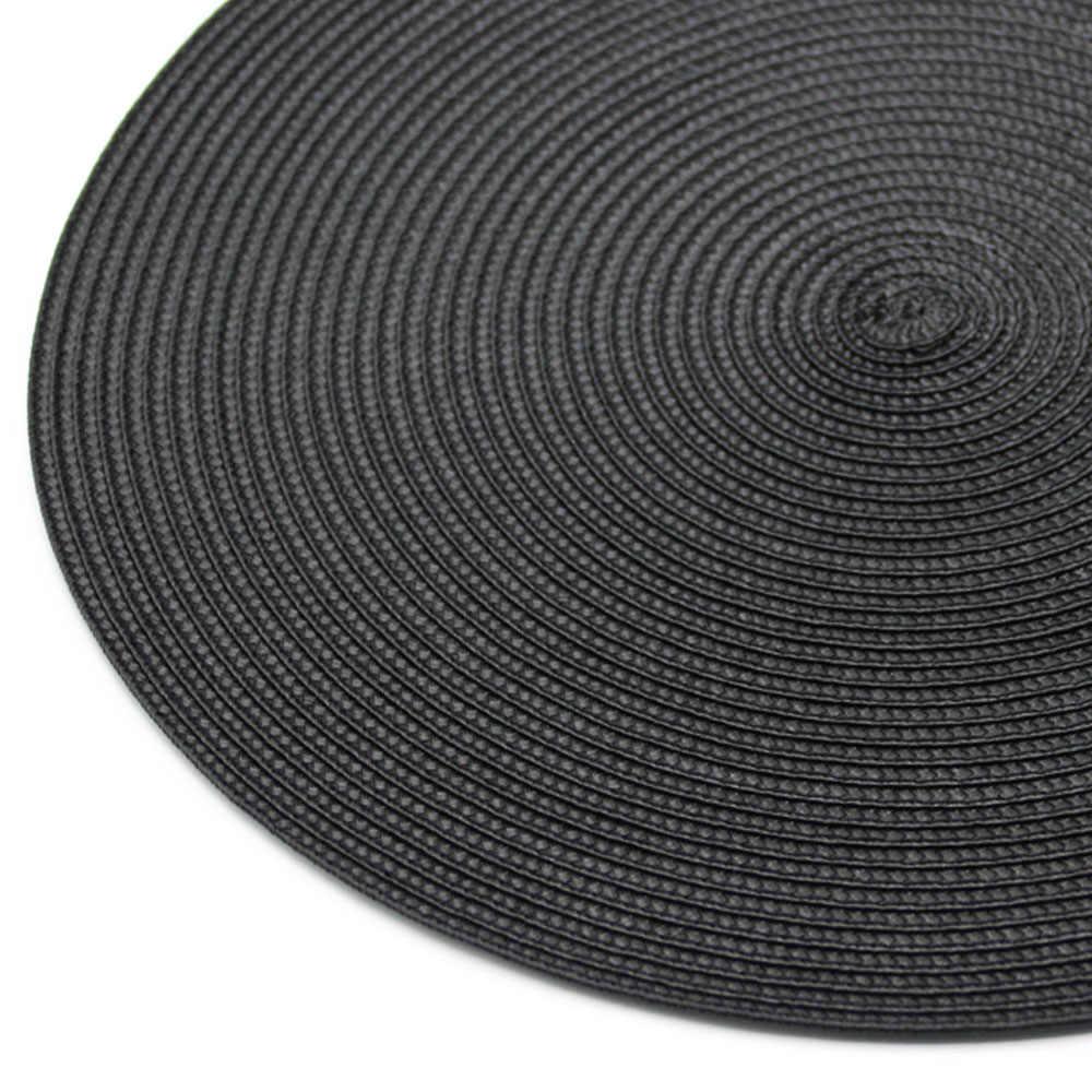 38 см/15 дюймов круглые тканые коврики для столиков подложка под столовые приборы круг подставки дисковые колодки чашка коврик под чашку подставки водонепроницаемый кухонный коврик