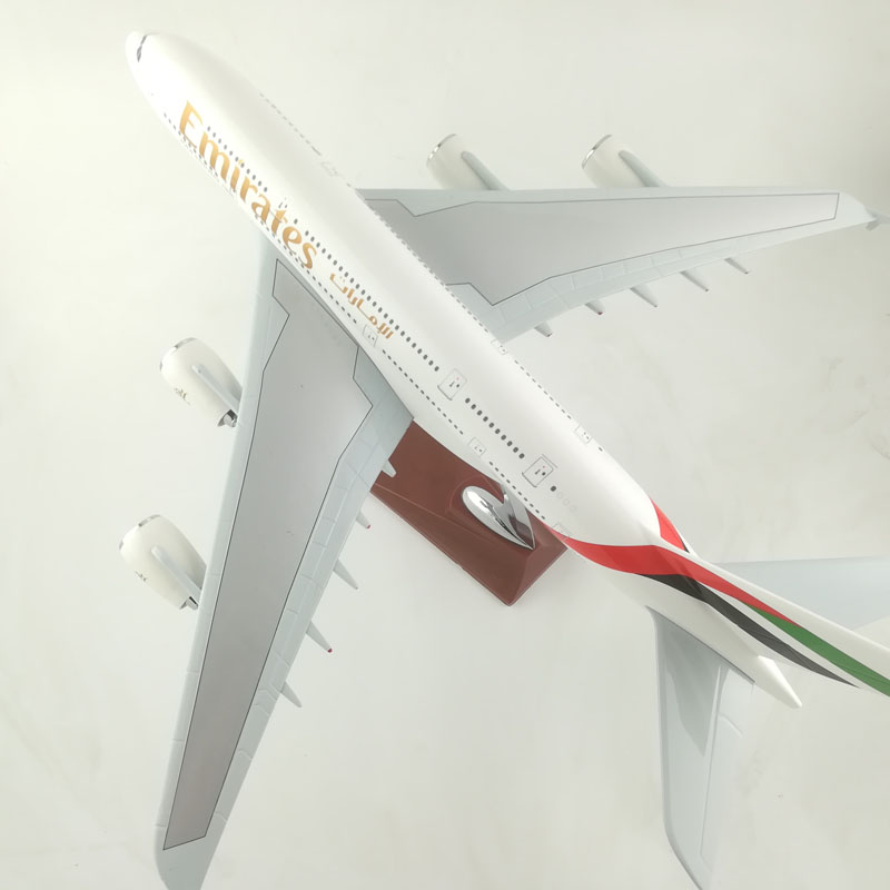 EMIRATES AIRLINERS 45-47CM A380 EMIRATES AIRLINES MODEL PLANE AIRCRAFT TOYS FOR CHILDREN BIRTHDAY GIFTS ORNAMENT
