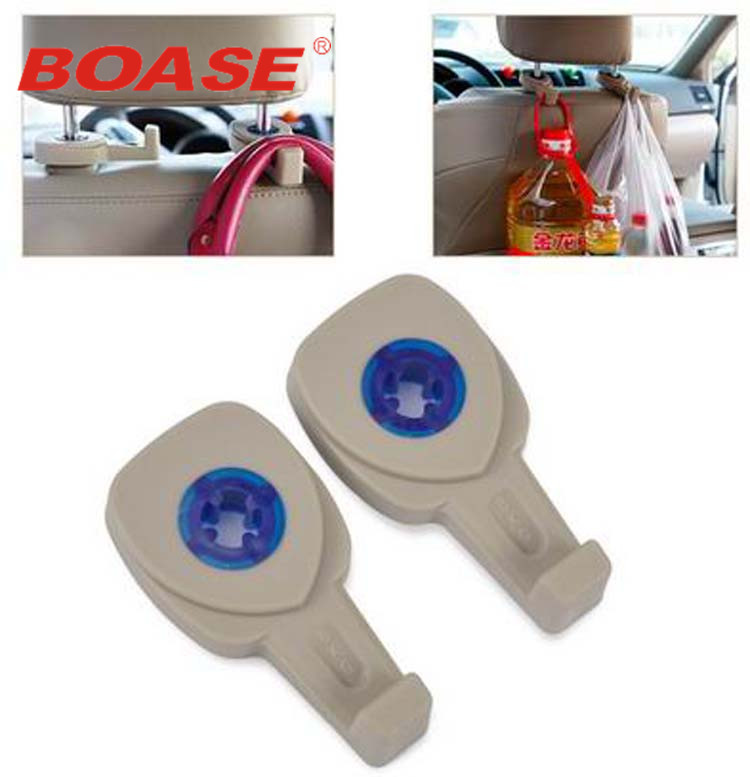 2 PCS new black cream colored fashion portable fasteners car seat hanger wallet bag organizer holder