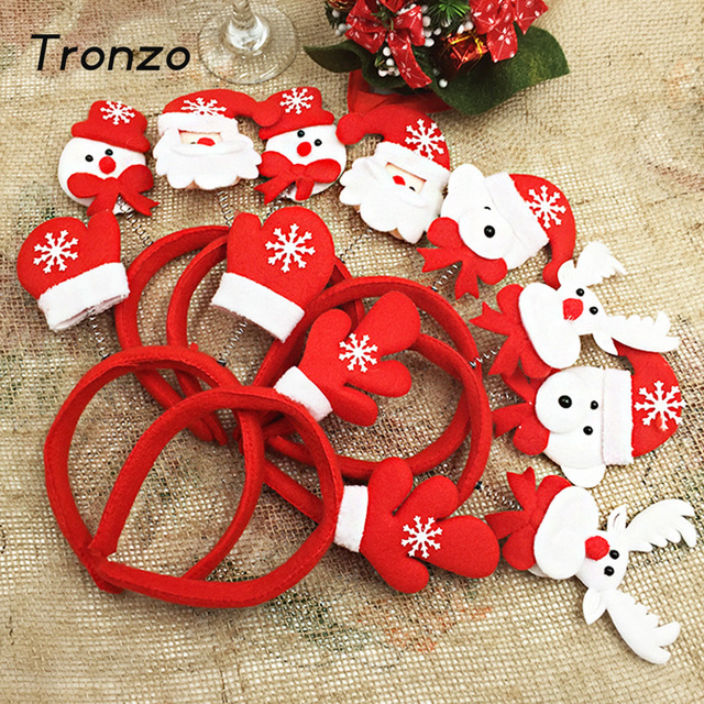 tronzo lindo vinchas astas de navidad de santa claus reno mueco de nieve de navidad para los nios del hogar decoracion navidad