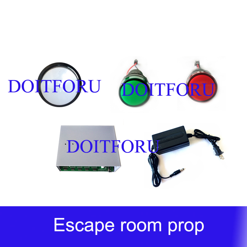 Room Escape Prop Real Life Adventure Device Casino Royale Horse Race Lamp  Catch The Running Lamp To Unlock