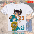 Free Shipping Serialize Anime Detective Conan Shirt Tops Tees Conan White Tops Detective Conan Ran Shirt Tees