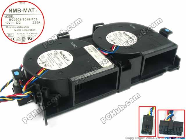 NMB-MAT BG0903-B049-P0S, 09 DC 12V 2.65A 8-wire 8-pin 97x97x33mm Server Blower fan nmb 3610kl 05w b49 9225 24v 3 wire cooling fan blower