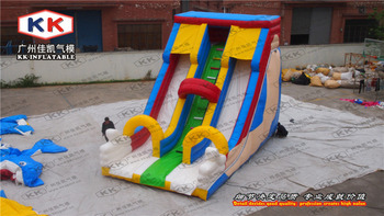 used cheap clown hand up inflatable bouncy slide for sale