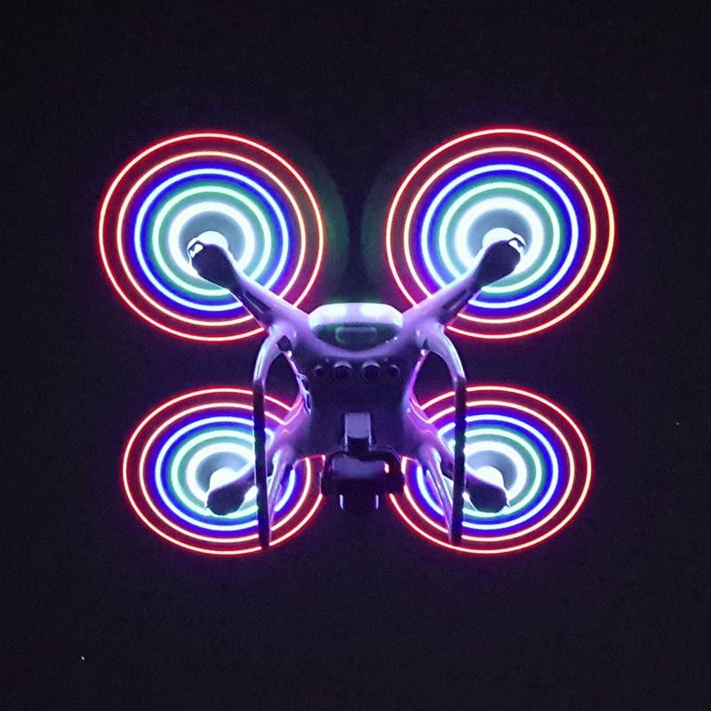 2 Pair/Set Phantom 4 Pro/4A/4 Propeller With LED light Accessories for DJI Phantom 4 Pro LED Propeller ноутбук msi gs43vr 7re 094ru phantom pro 9s7 14a332 094