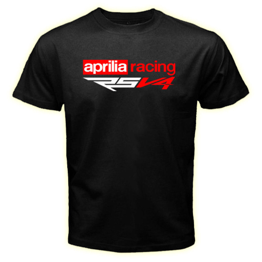 Aprilia RSV4 Racinged Logo Tee New Tshirt Cotton Men's T-Shirt Size S to 3XL Gray Style