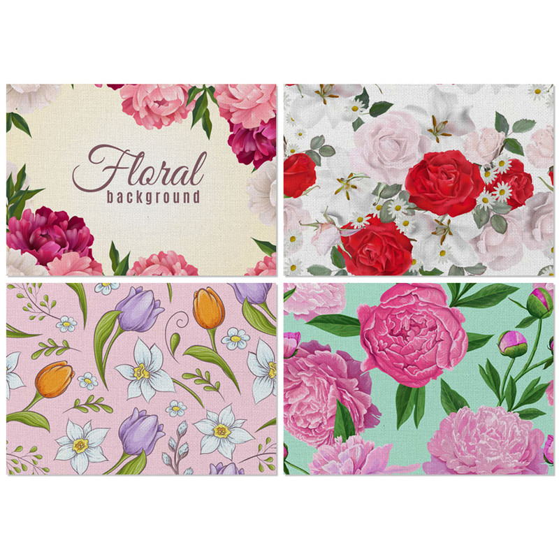 Table Tea Placemat Place Mat Polyester Flowers Drink Bowl Coasters Party Decor Tableware Mat Kitchen Decoration Accessories in Mats Pads from Home Garden