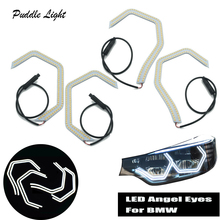 LED Angel Eyes Halo Concept M4 Acrylic For BMW 2 3 4 Series F30 F31 F32 F34 F80 F83 GT M2 Xenon/Halogen Headlight Accessories недорго, оригинальная цена