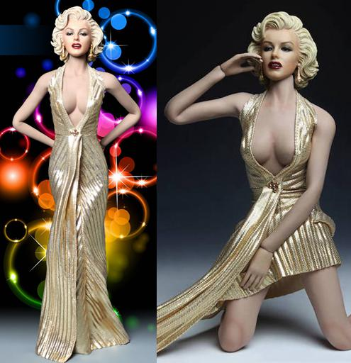 """ФОТО 1/6 scale figure doll accessories marilyn monroe dress suit with head for 12"""" action figures doll female,fit phicen body no box"""