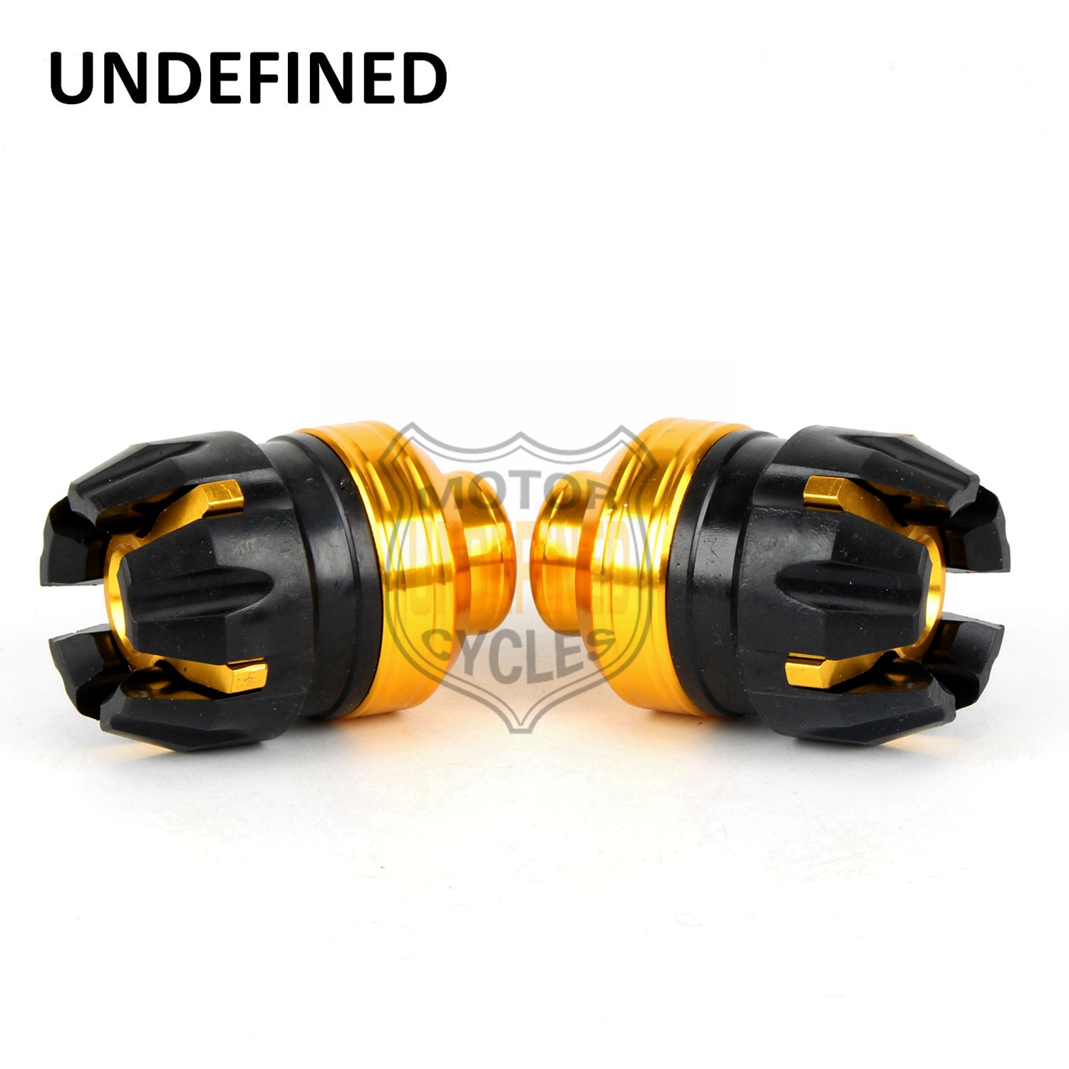 14mm Yellow Motorcycle Bike Universal Front Fork Axle Frame Crash Protector Slider Falling Protection For Kawasaki UNDEFINED