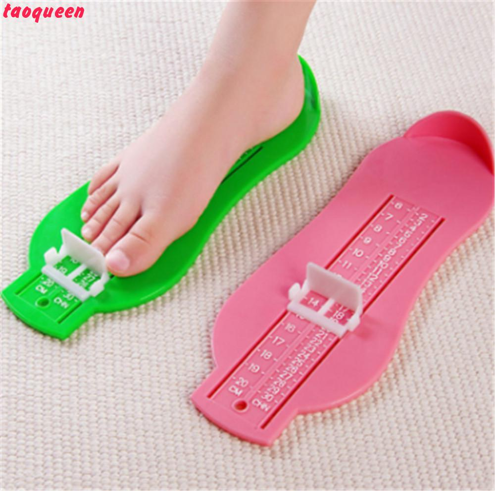 Taoqueen 2018 New Footful Foot Measuring Device Shoes Gauge Ruler For Baby Measure Foot Baby Growth Souvenirs Baby Gift